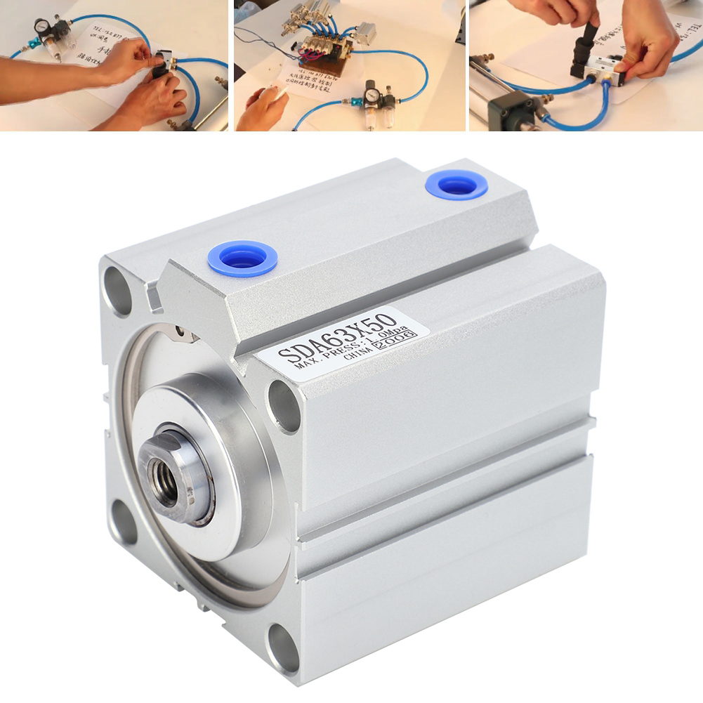 Thin Air Cylinder Stainless Steel Pneumatic Component Diameter 63mm Stroke 50mm SDA63X50 thumbnail