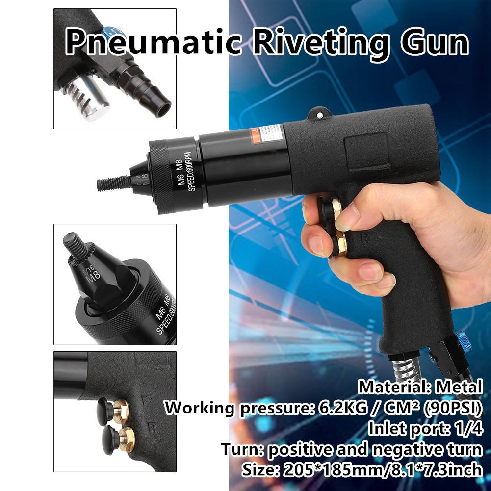 M6//M8//M10 Pneumatic RivetingGun Pull Nut Automatic Air Riveter NutGun Tool
