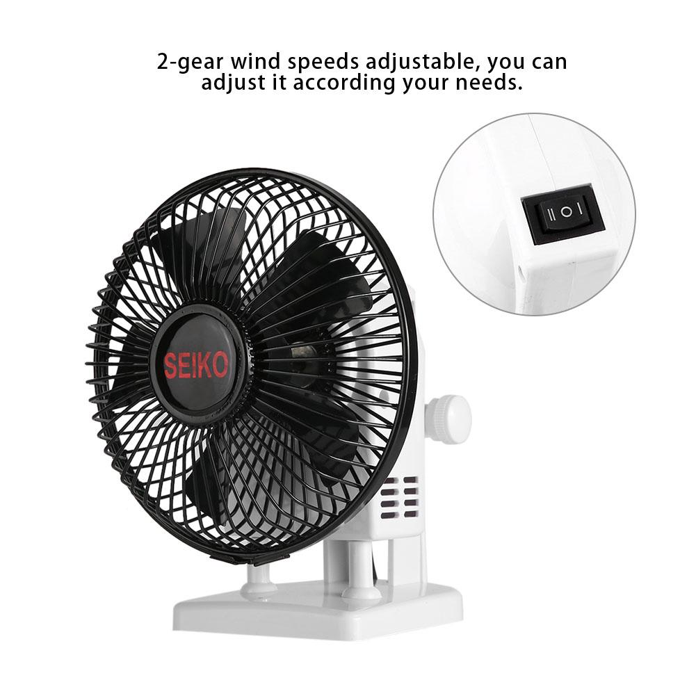 Powerful Desk Table Fan  Small Air Circulator Quiet Mini Portable Retro