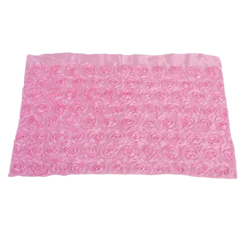 Lovely Newborn Baby Photography Props 3D Rose Flower Backdrop Soft Blanket Rug