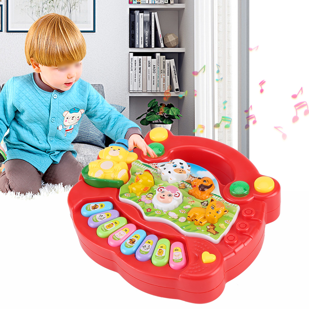 Red Early Educational Gift For Girl Baby Infant Kids Musical Piano Toys Yellow