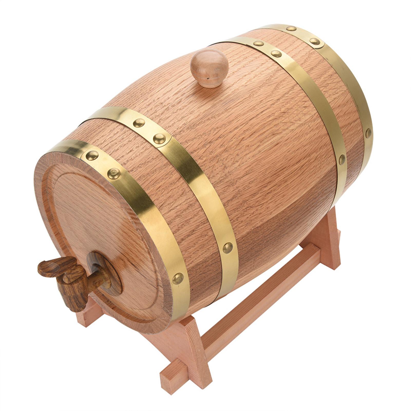 1.5//3//5//10L Eichenfass Eichenholz Weinfass Holzfass Whisky Bier Fass Regentonne