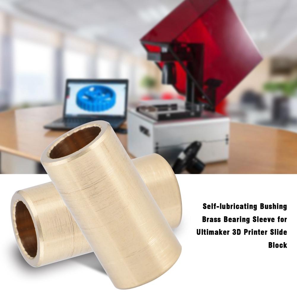 Self-lubricating Brass Bearing Sleeve for Ultimaker 3D Printer Slider Block CO