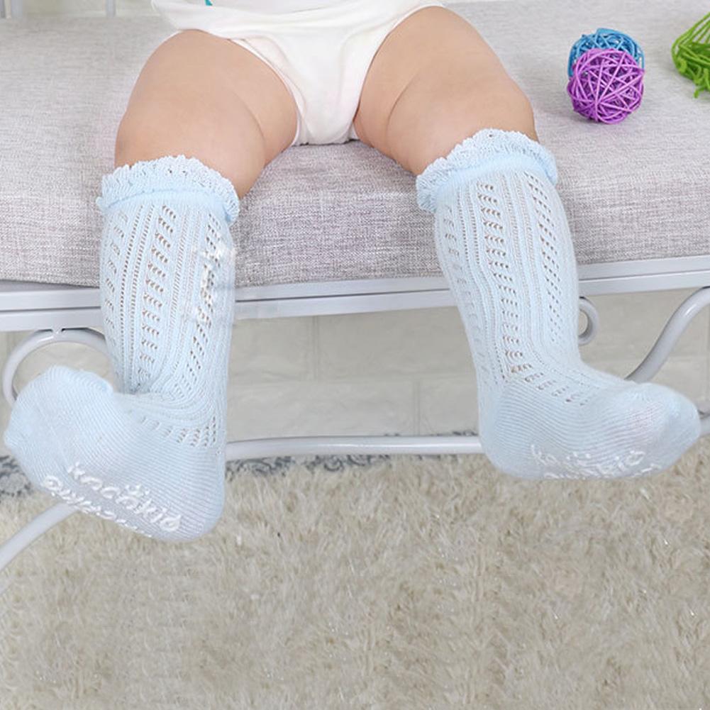 Baby Girls Boys Socks Knee High Lace Hollow Socks Cotton Long Tube Booties Sox