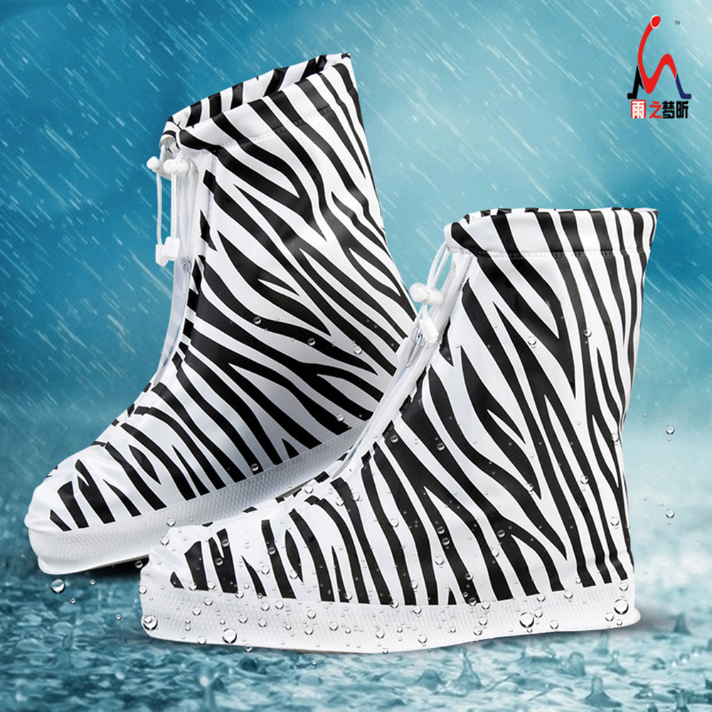 Children/'s Retro Anti-Slip Waterproof Shoe Cover Rain Boots Overshoes Protector