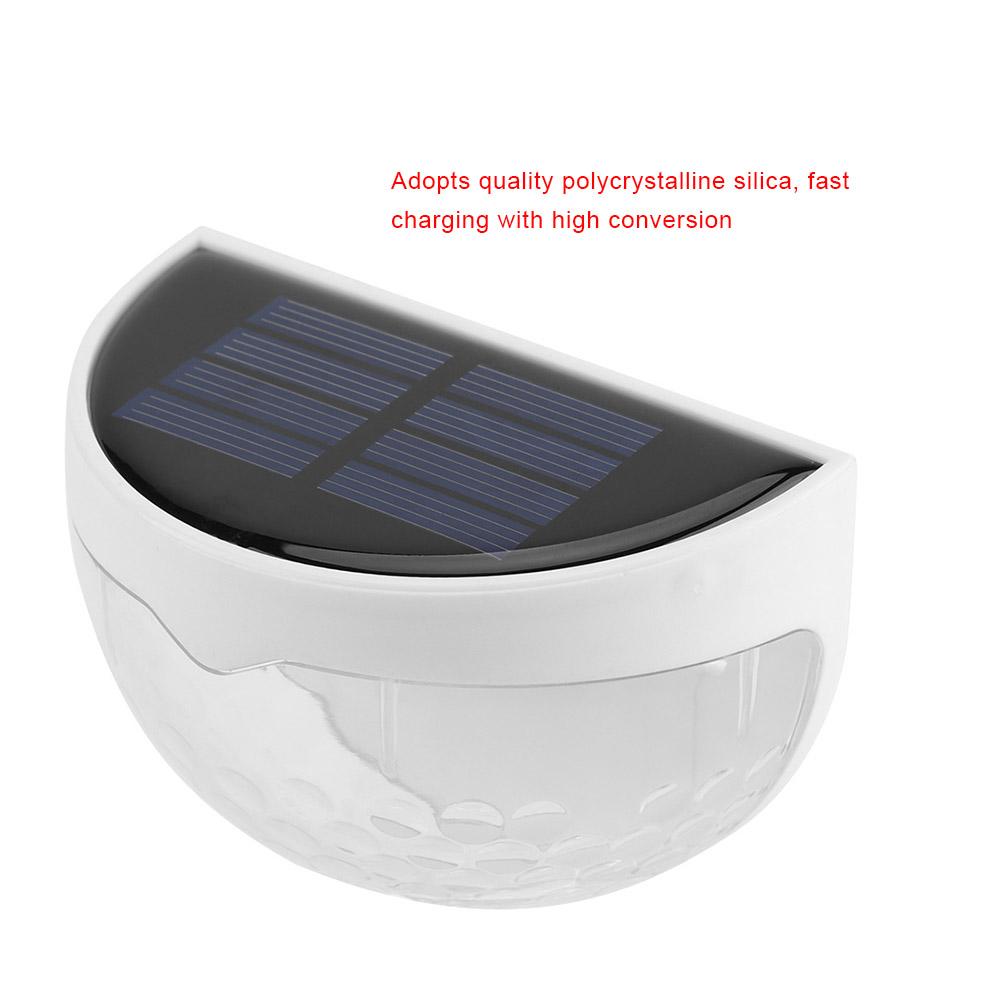 SOLAR POWERED FENCE LIGHTS STEP DOOR WALL BRIGHT 6 LED LIGHTS GARDEN OUTDOOR X4