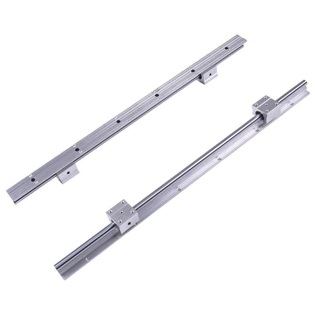 2 Stk SBR12-500mm //600mm //700mm Linearlagerschiene Linearwelle 4 Stk SBR12UU