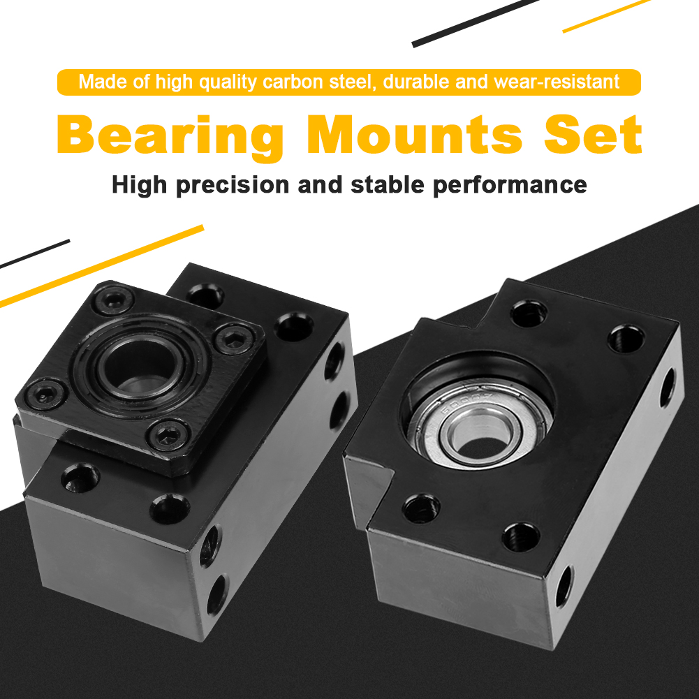 Fixed Floated Side End Supports Bearing Mounts Set for Ball Screw 10//12//15mm H~Q