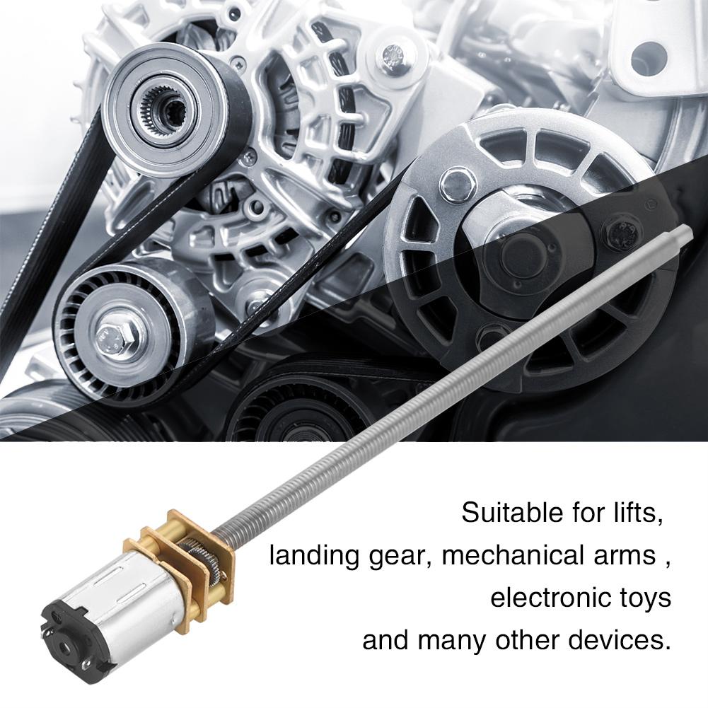 30-600RPM DC6//12V N20 Electric Gear Box Reduction Motor Long Output Shaft M4 New