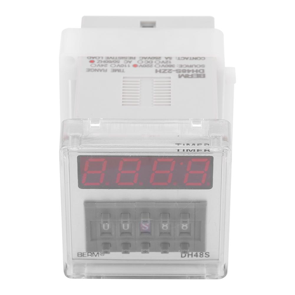 DH48S-2ZH LED Einschalt Verzögerungszeitrelais Relais 0.01S-99H99M 8-Pin DPDT
