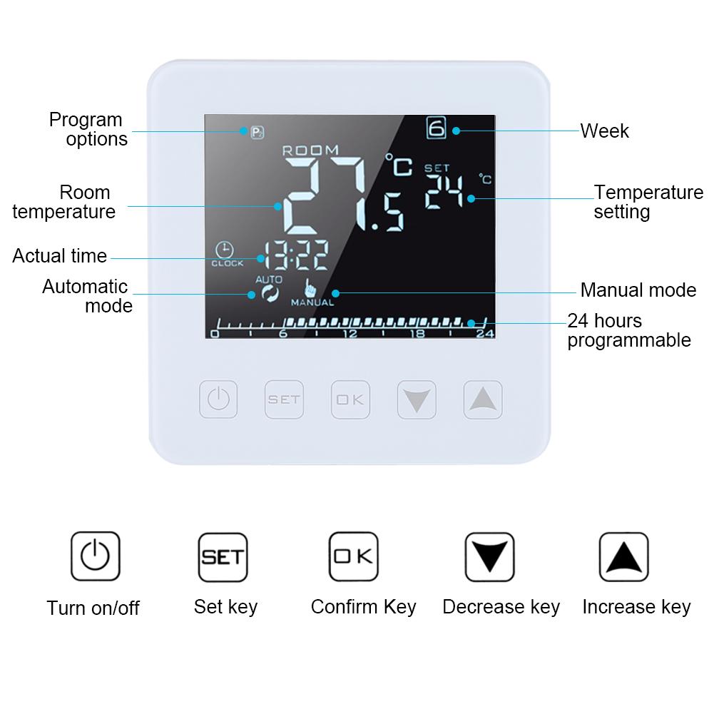 Home & Garden WIFI LCD Wireless Smart Programmable Thermostat ...