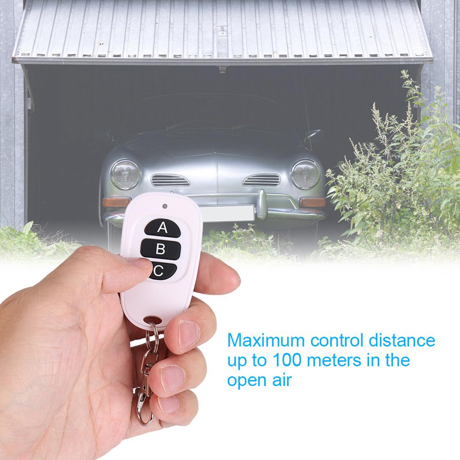 433MHz EV1527 RF Wireless Transmitter Garage Door 1~4 Channel Key Remote Control