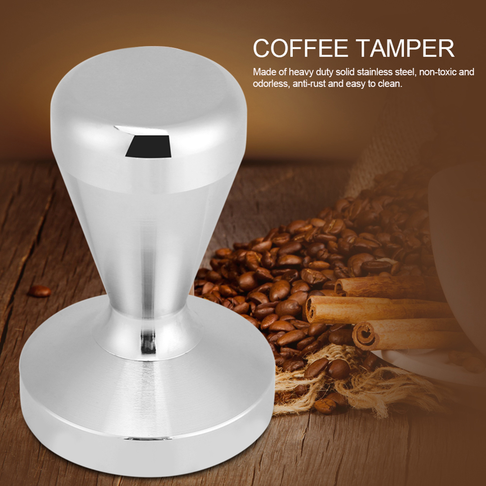Stainless Steel Press Cafe Coffee Tamper Coffee Machine Maker Coffee Tamper JS