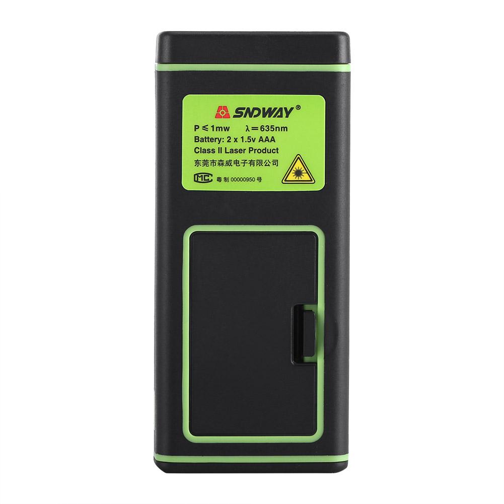 Portable Laser Mètre De Distance Télémètre Auto-calibration Outil Mesure 40-100M