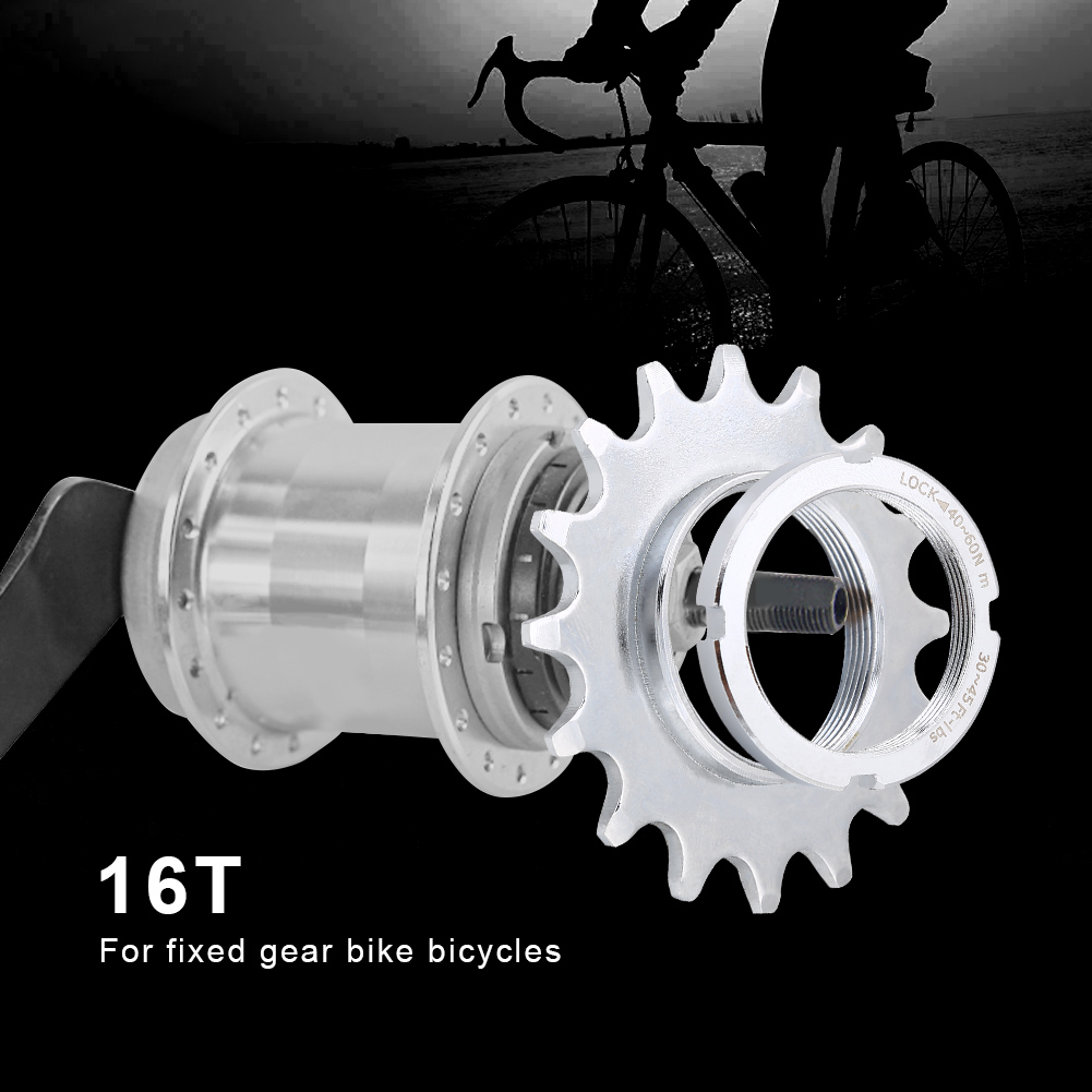 Fixie Track Sprocket Fixed Gear Single Speed Cog Threaded Lock Ring 13T-16T SD