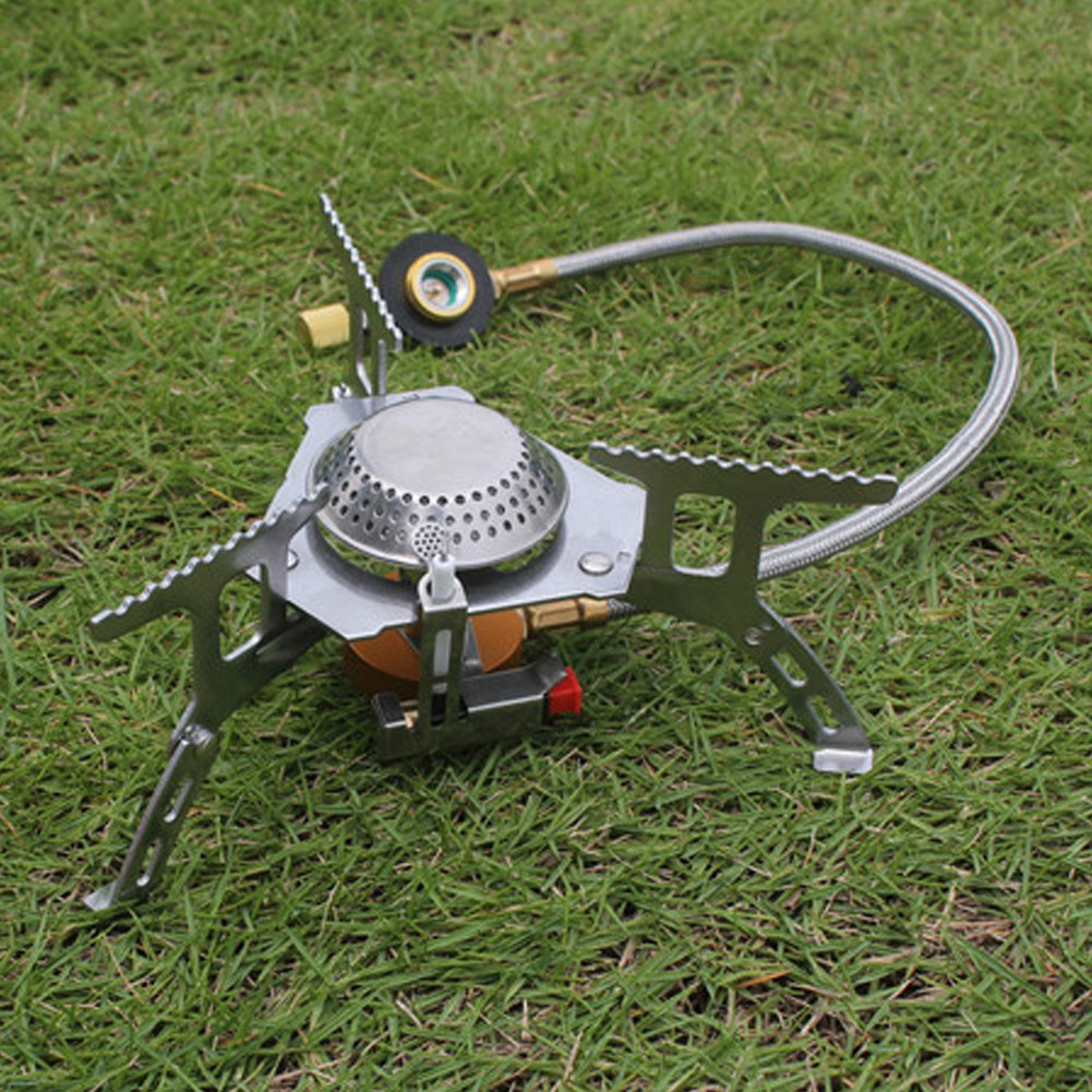 Lightweight Camping Stove Gas Burner Outdoor Hiking Backpacking Travel 2Types GS