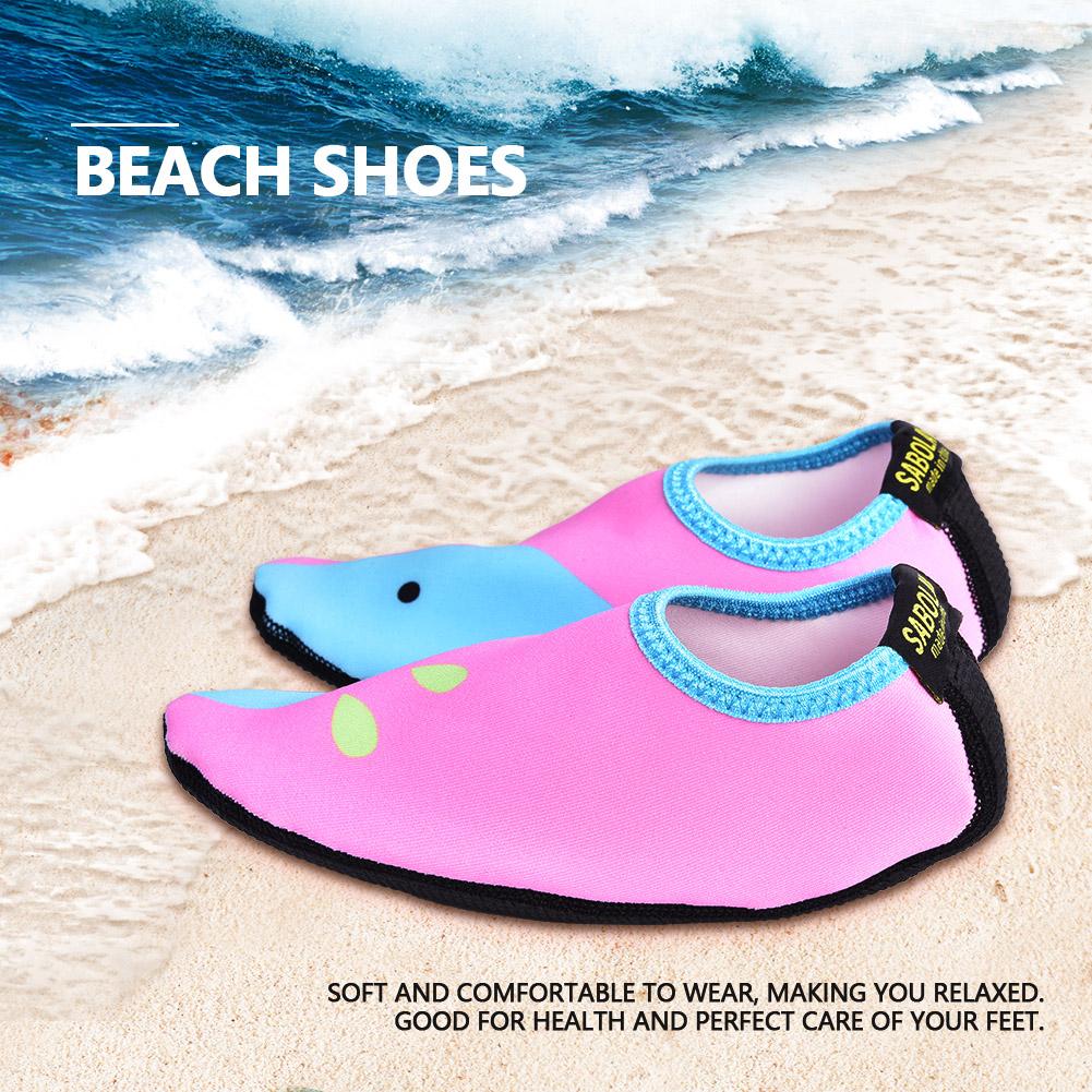 Kids Boy Girl Skin Water Shoes Beach Socks Yoga Swimming Sports Breathable LY