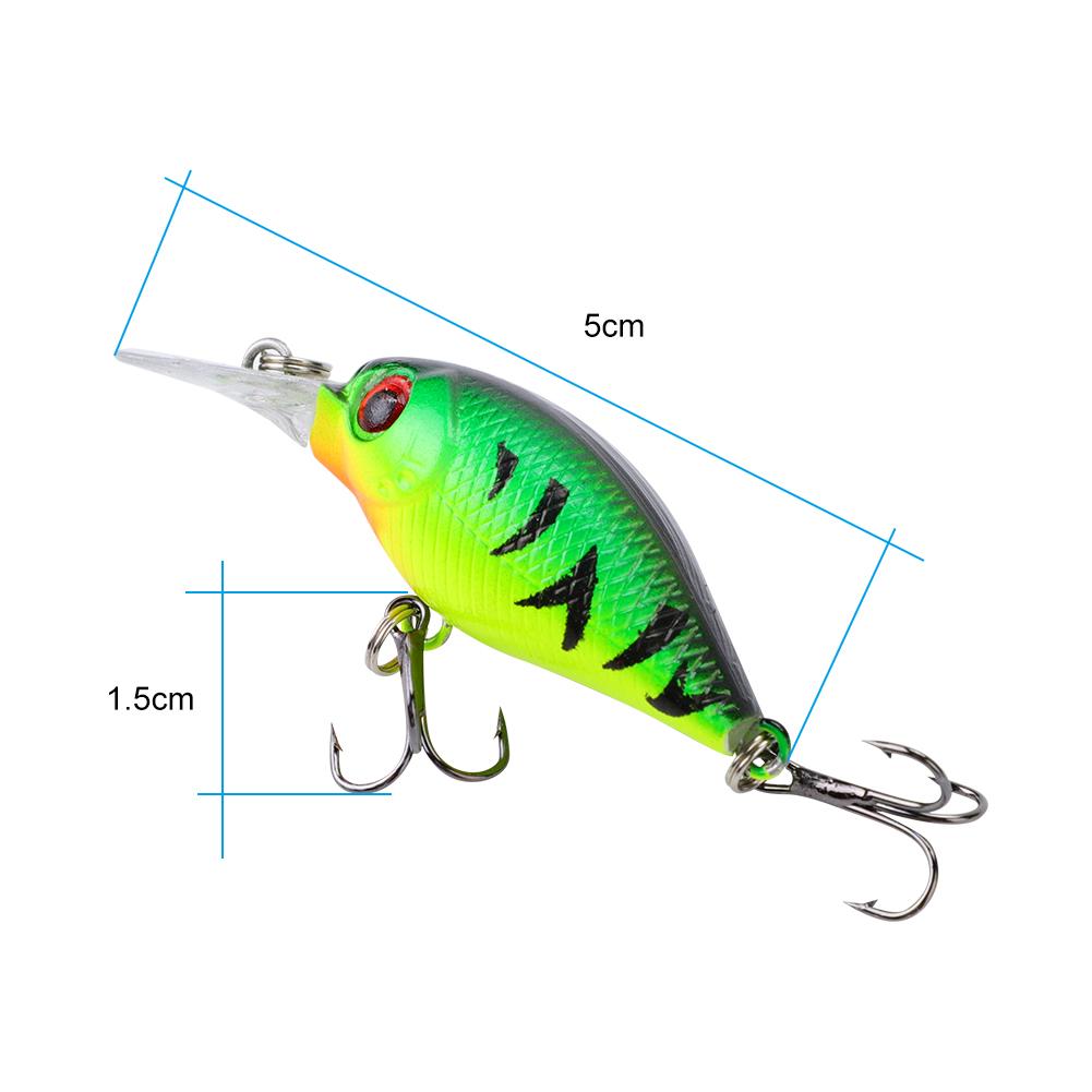 5 Pcs//Set Artificial Lifelike Hard Baits Set Fishing Bait Lure with Hooks HOT