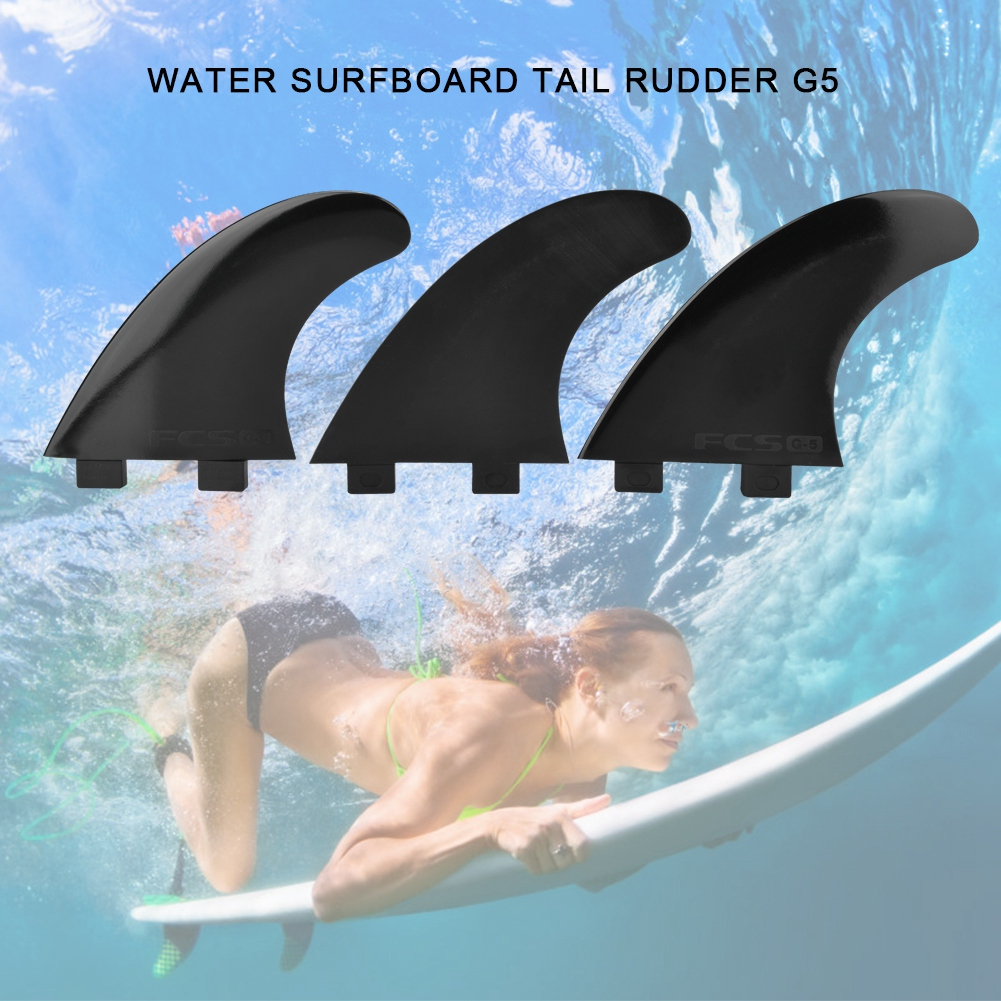 G5 Single Head FCS Surfboard Fin Nylon Plastic Tri Fin Thruster Set Surfing Fins