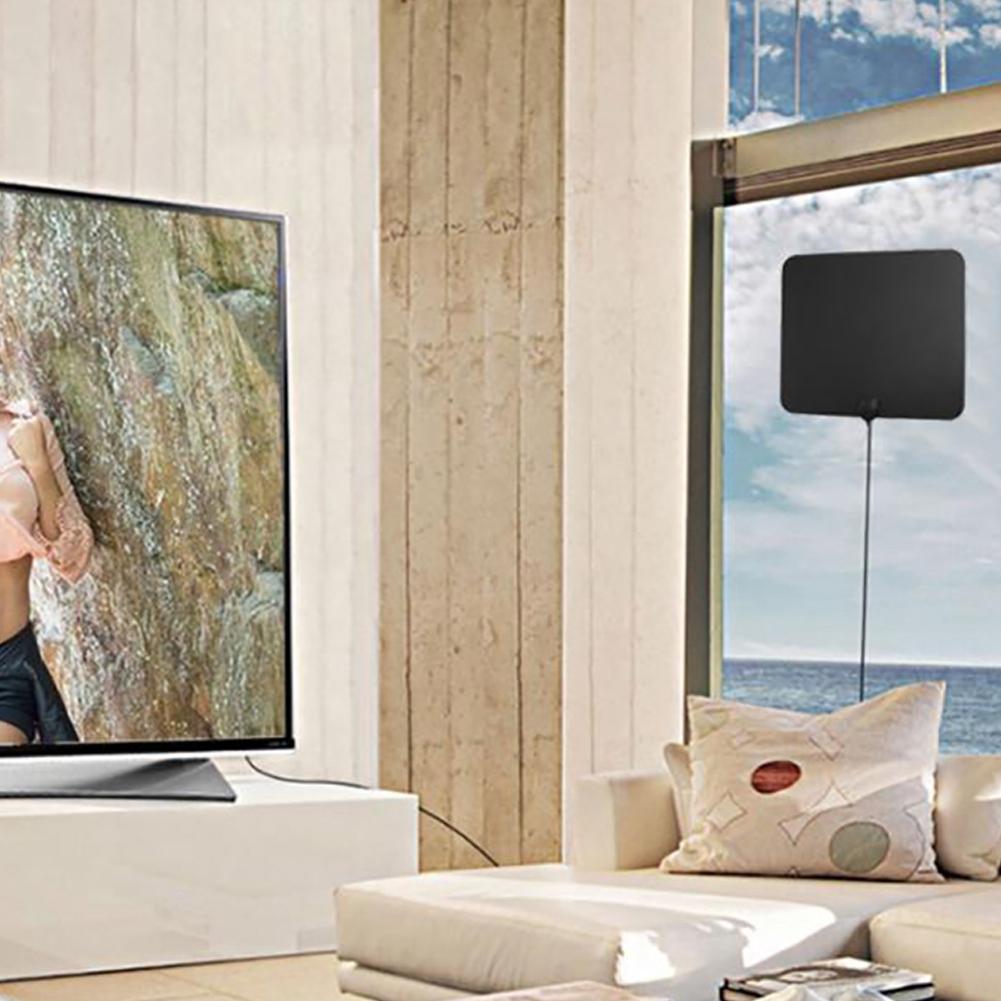 HDTV Digital TV Outdoor//Indoor Antenna Aerial UHF VHF Signal Amplifier Booster