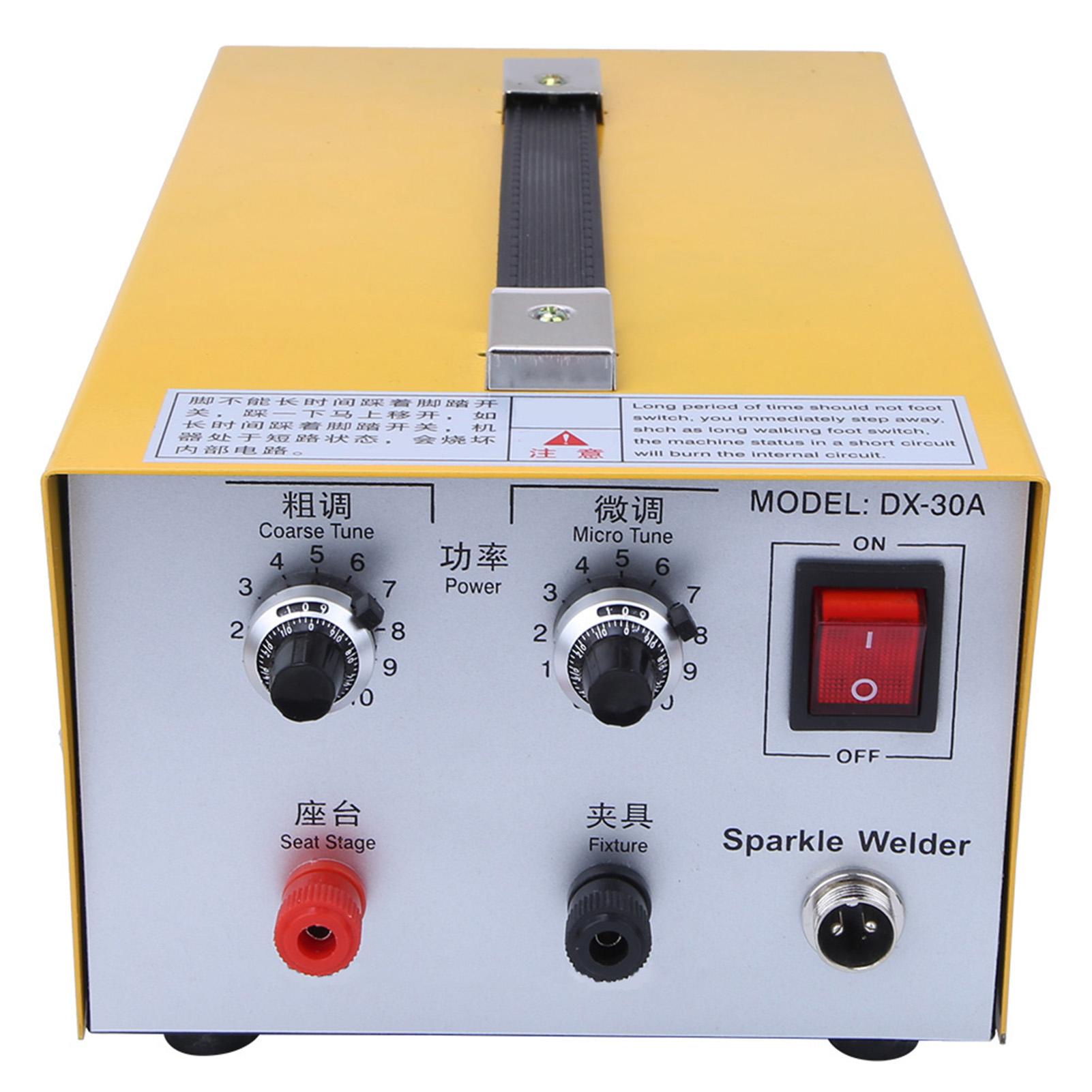 30A Mini Spot Welder Spot Welding Machine Jewelry Tool Foot Pedal Control