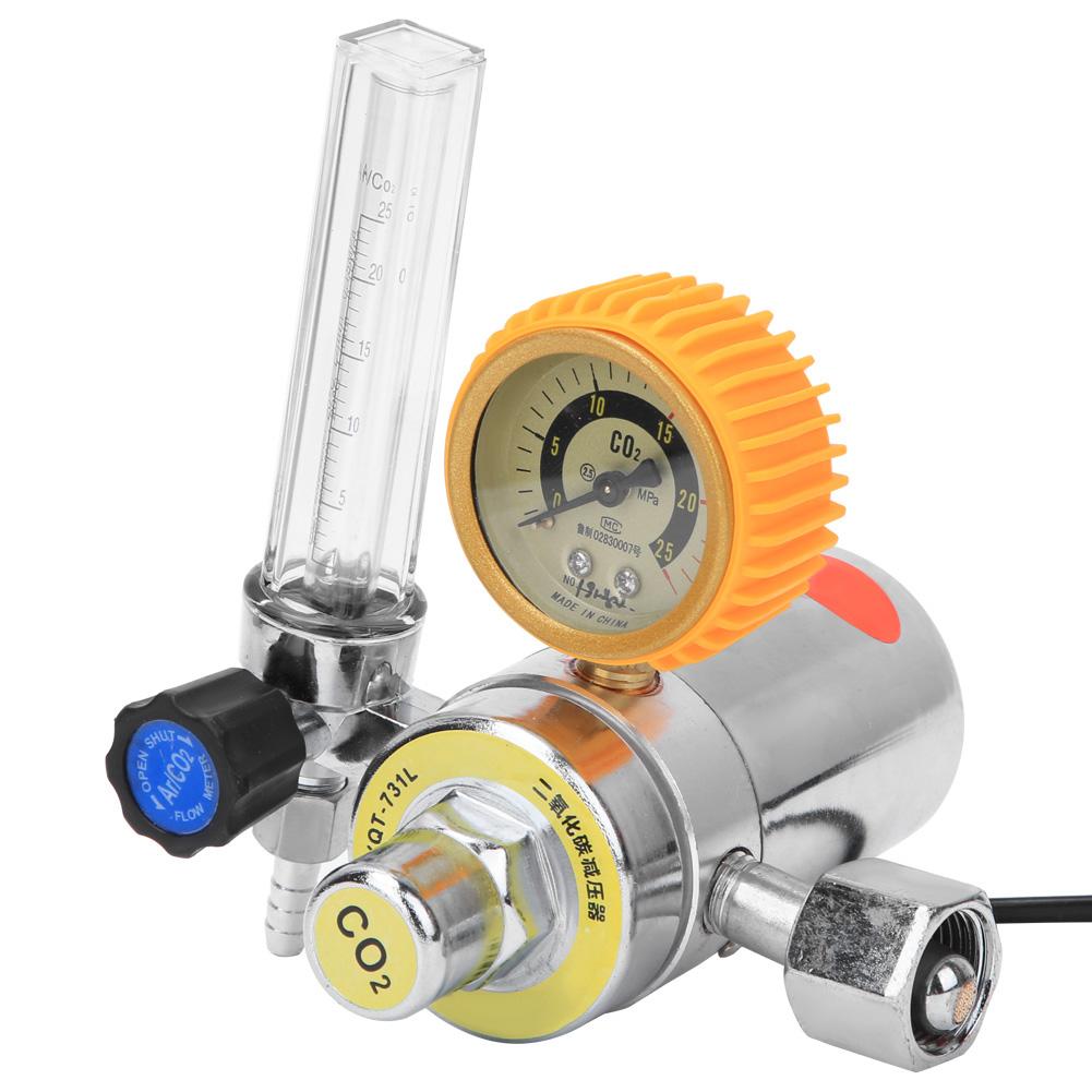CO2 Gas Bottle Regulator Carbon Dioxide Welding Pressure Reducer  36V//110V//220V