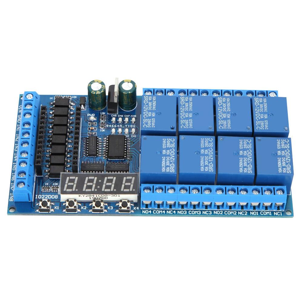 8ch DC 12V Pro Mini Relais Shield Modul PLC Timer Board für Arduino
