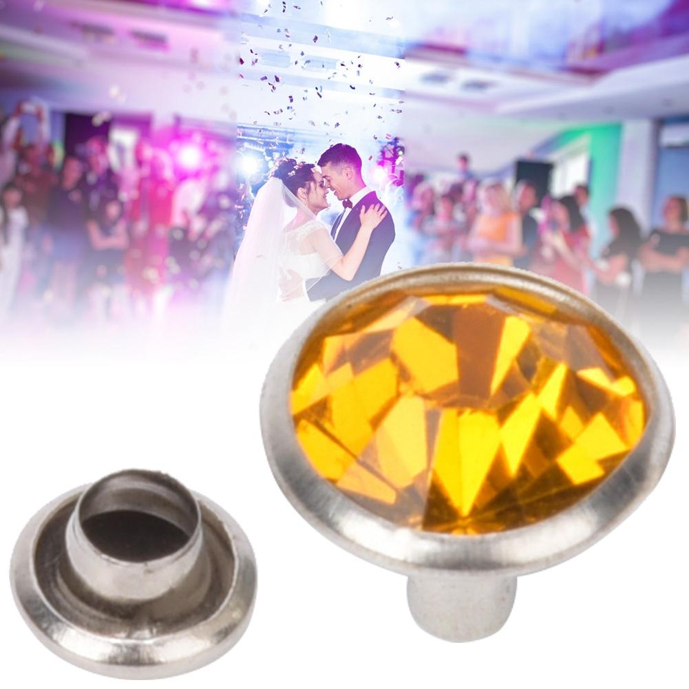20 Sets Shiny Rhinestones Crystals Rivets Studs For Leathercraft DIY Premium