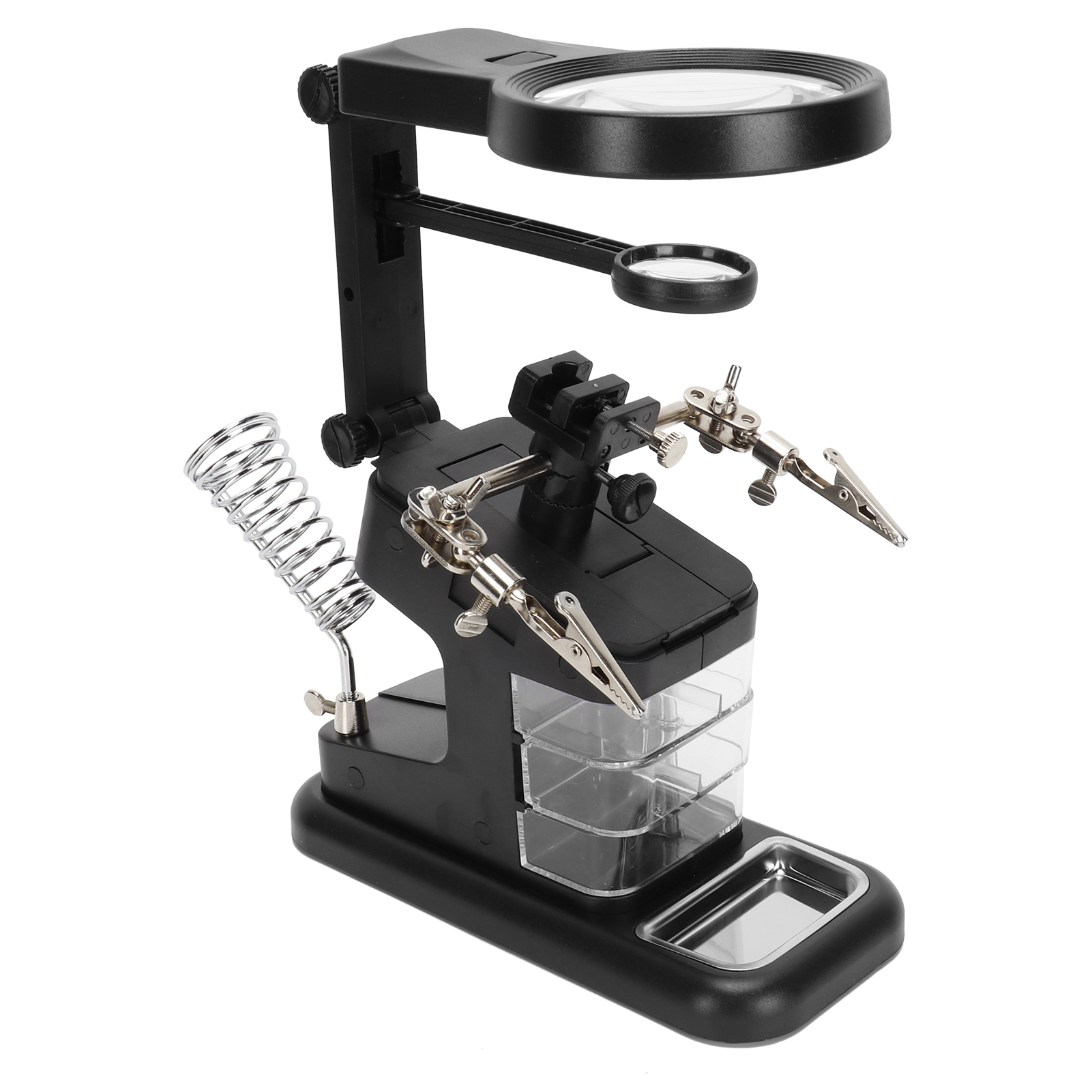 Details about  /Tabletop LED Hand Free Magnifying Glass Magnifier For Soldering Jewelry Tool