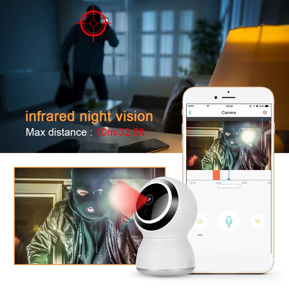 Mini WiFi CCTV Security Camera System 2-Way Audio Intercom Baby Monitor 110-240V