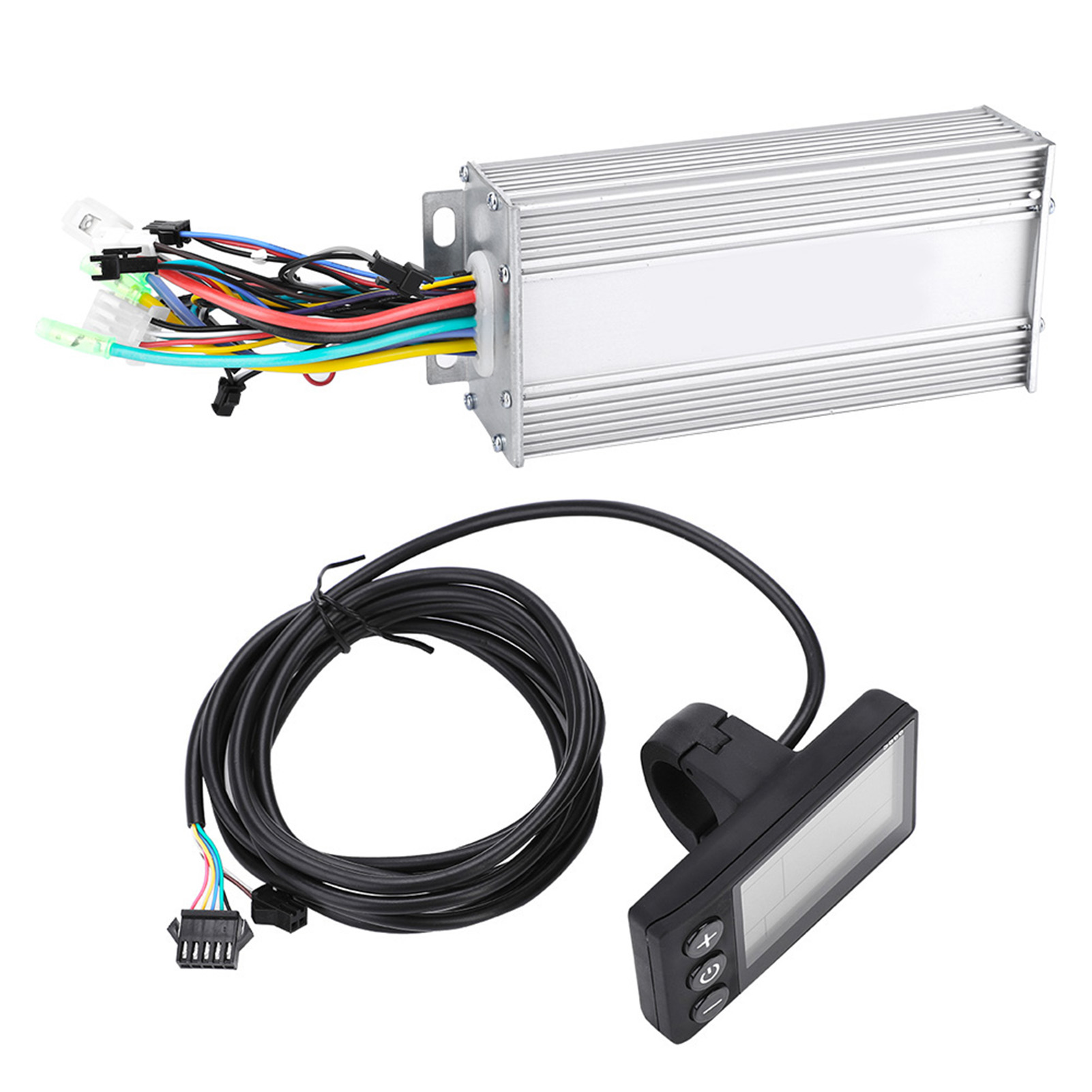 Electric Bicycle E-bike Scooter Brushless Motor Speed Controller LCD Panel Set