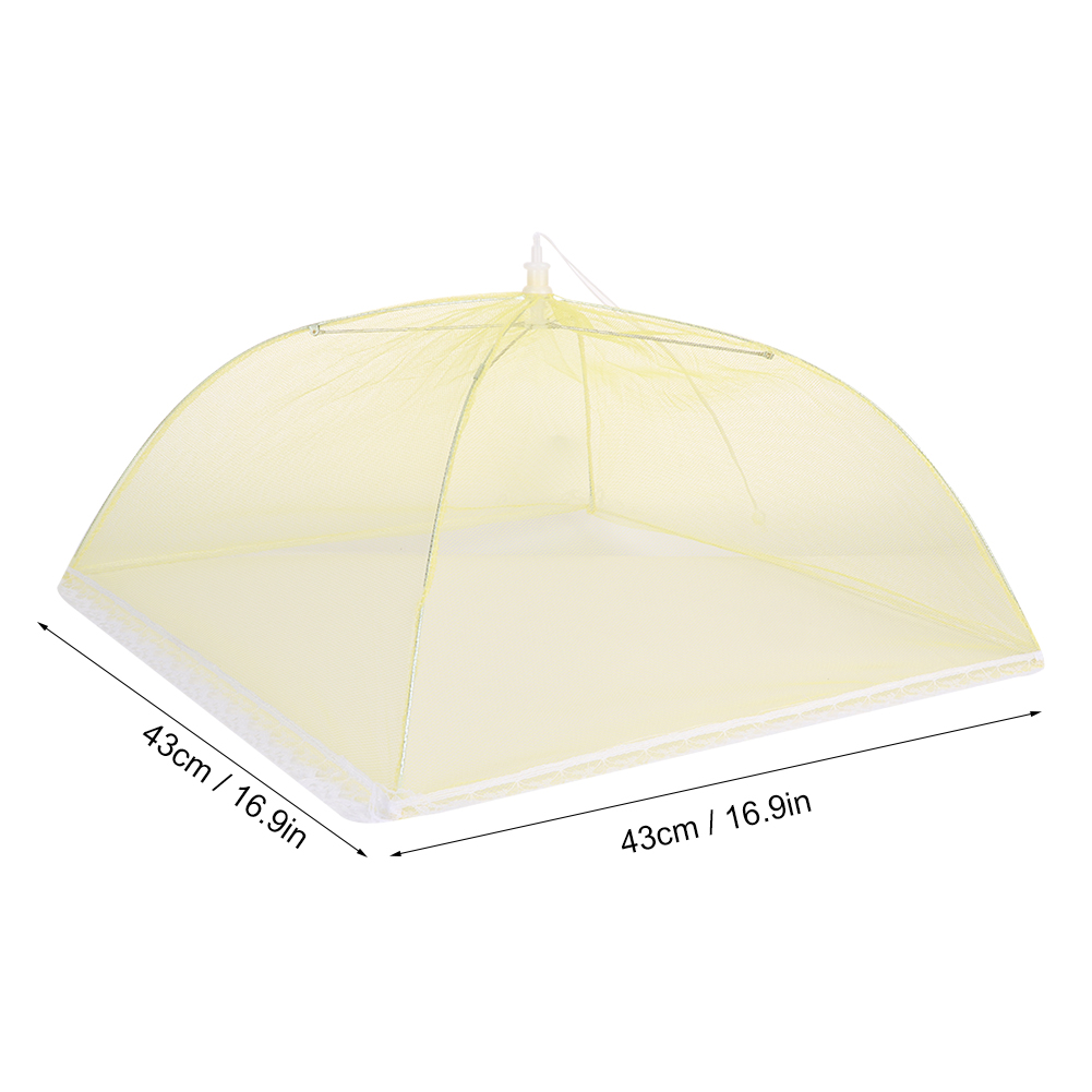 Details about  /2Pcs Food Cover Foldable Food Mesh Umbrella Kitchen Dish Meal Anti-dust Tents