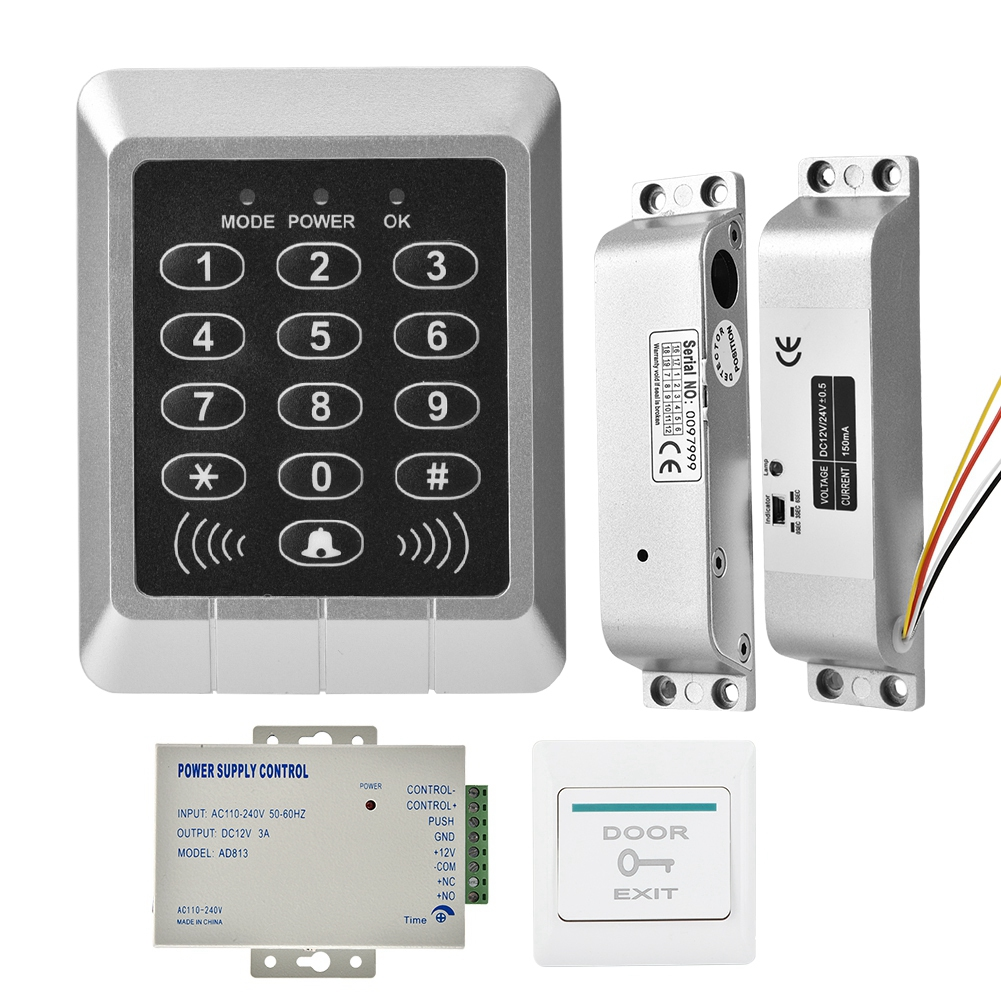 Home Security Magnetic Control Electric Door Lock ID Key Card Door Access System
