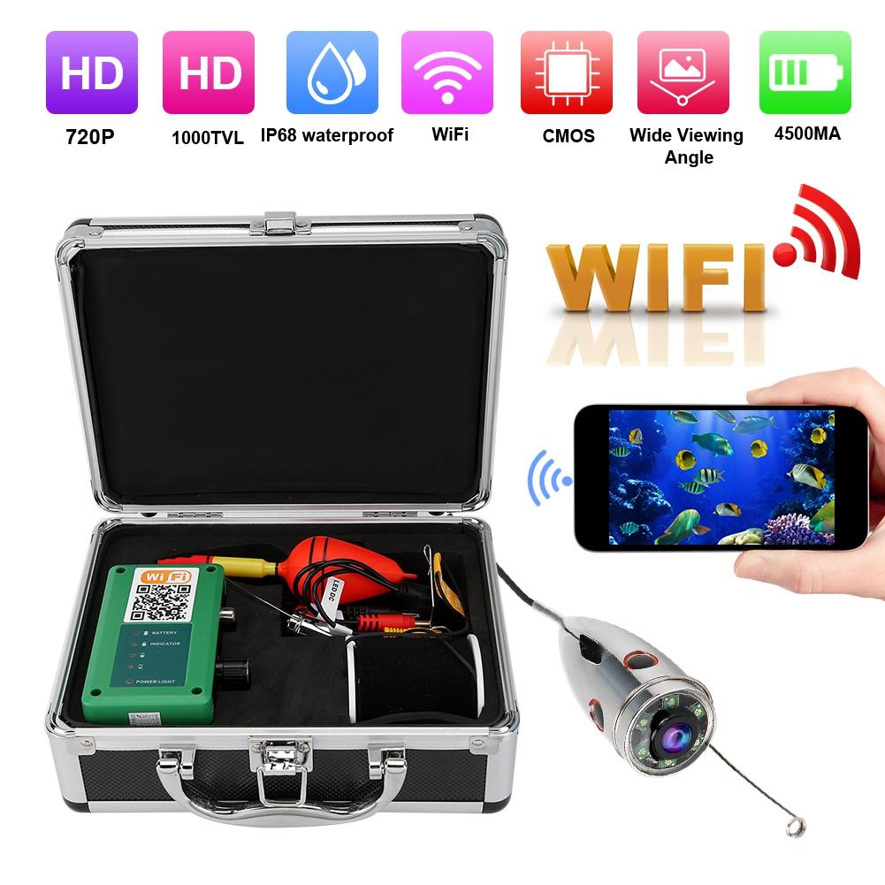 7in 1080P HD WIFI Unterwasserkamera Fischfinder Wasserdichte 20m Kabel