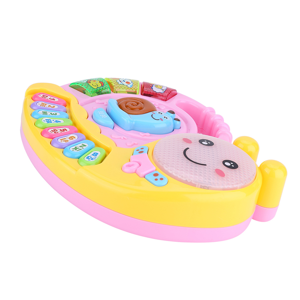 Baby Kids Musical Educational Animal Snail Piano Developmental Music Toy Gift #B