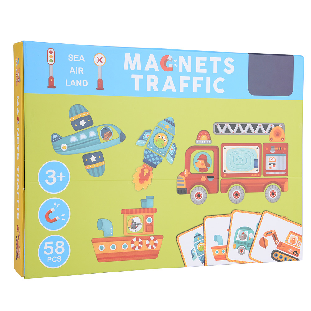 Paper Magnet Colorful Jigsaw Toy for Kid Educational Learning Intelligent Toys