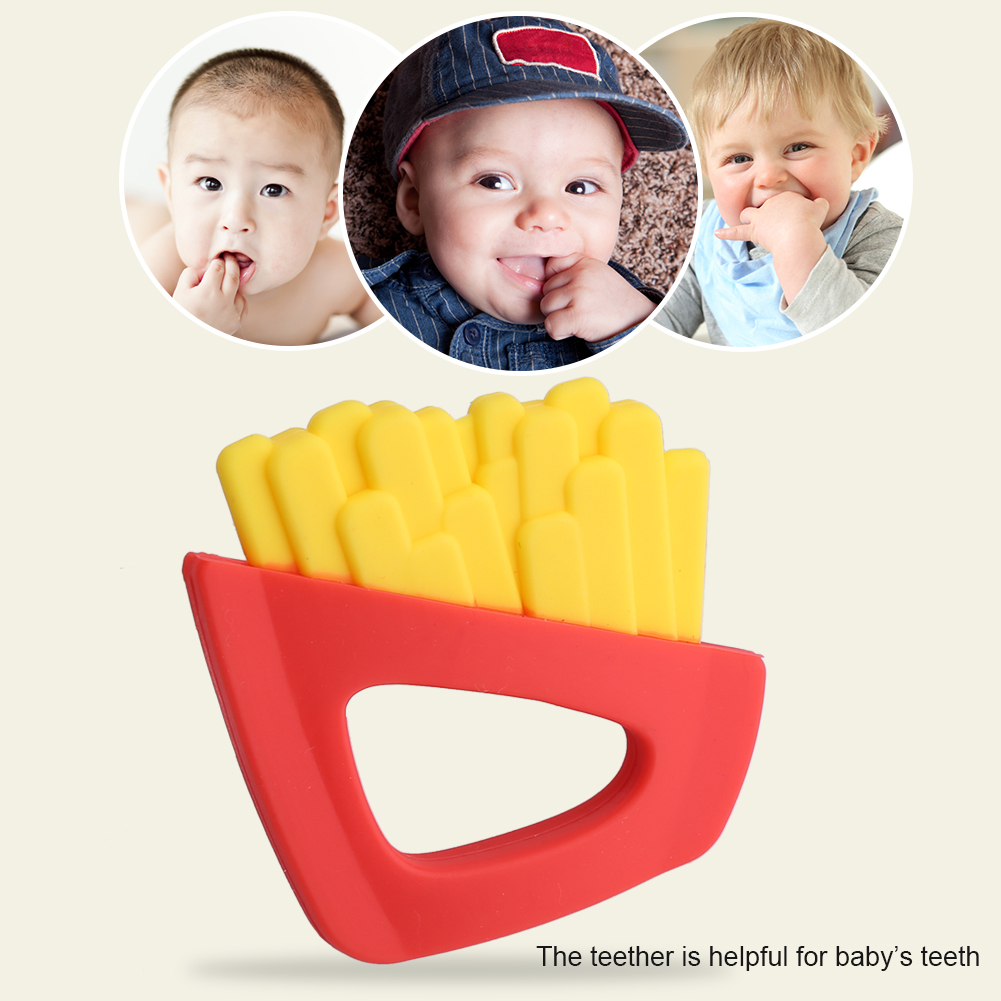 Safe Baby Teether Teething Chew Toys Silicone  Babies  Infant Chewing Toy
