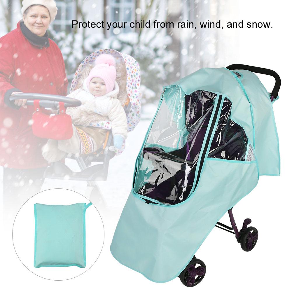 Waterproof Buggy Rain Cover Universal Raincover For Baby Pushchair Stroller Pram