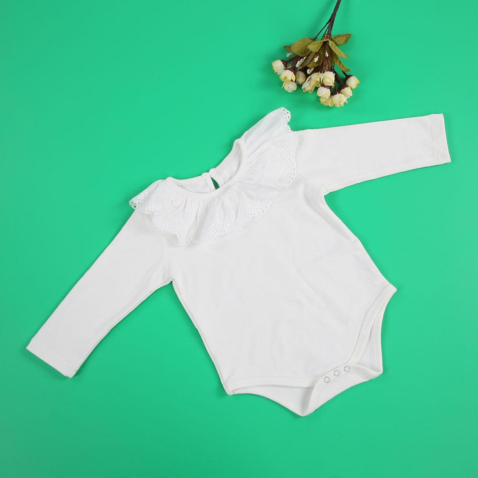 Breathable Comfortable Baby Girl/'s Lace Collar Long Sleeve Cotton Jumpsuit Outfi