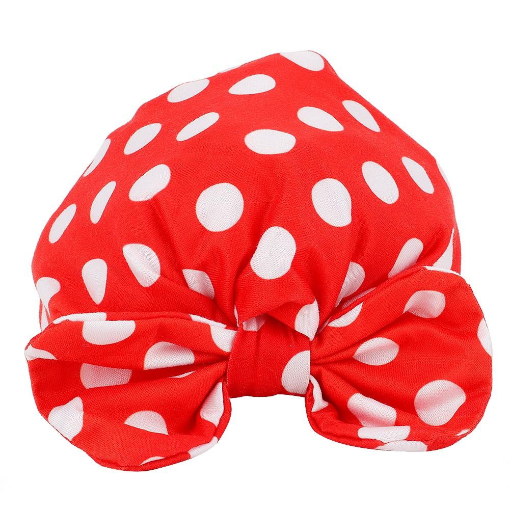 Newborn Kids Girl Baby Toddler Turban Knotted Bow Hat Soft Cap Headband Headwear