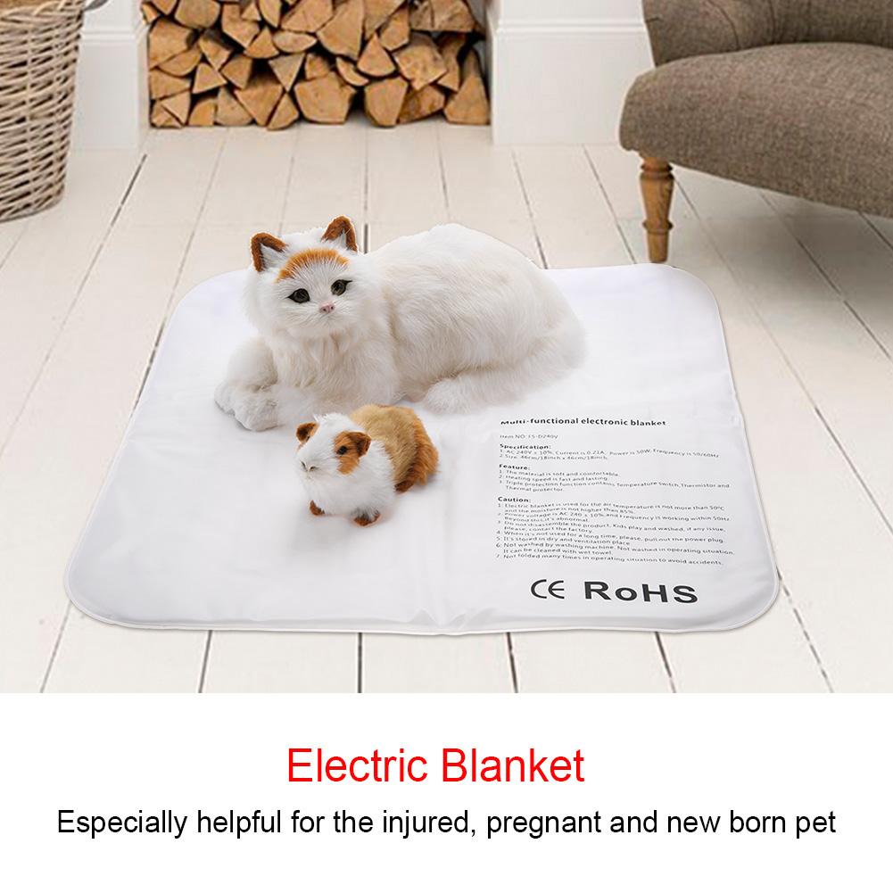 Electric Pet Heating Pad Mat Waterproof Heater Blanket Pad Dog Cat Bed 100-240V