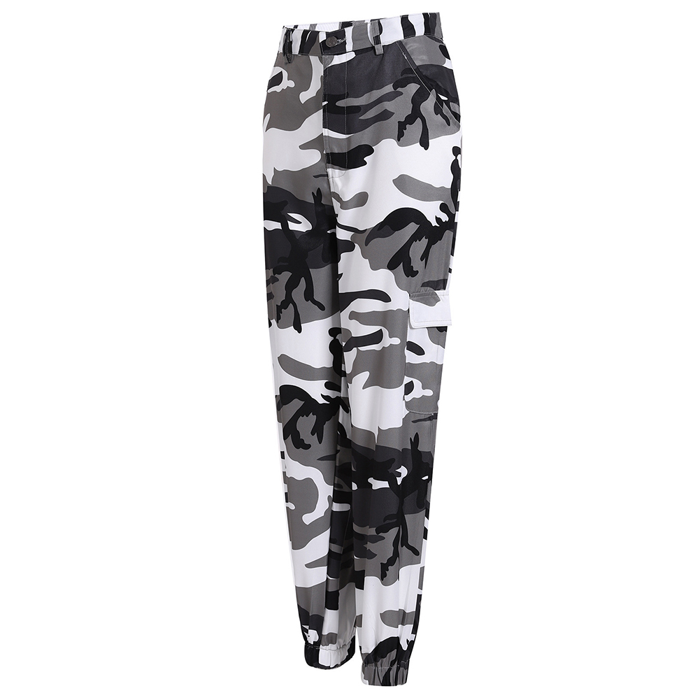 Ladies Girls New Harem Pants Military Style Camouflage Print Spring Long Trouser