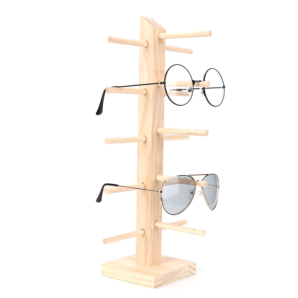 2019 Sunglasses Rack Holder Glasses Display Stand for 6 Pair Glasses Many Colors