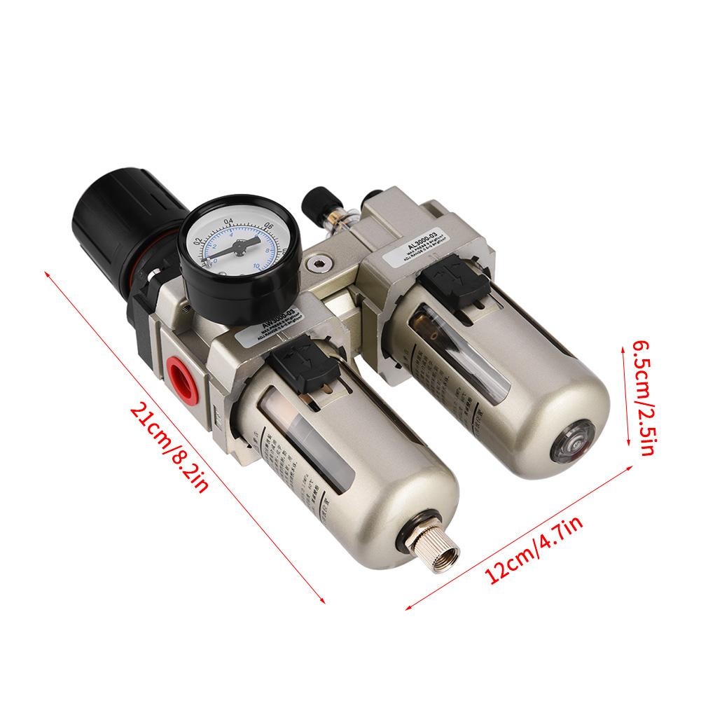 """Druckluft Filter Wartungseinheit Druckminderer Druckluftregler Wasserfilter 3//8/"""""""