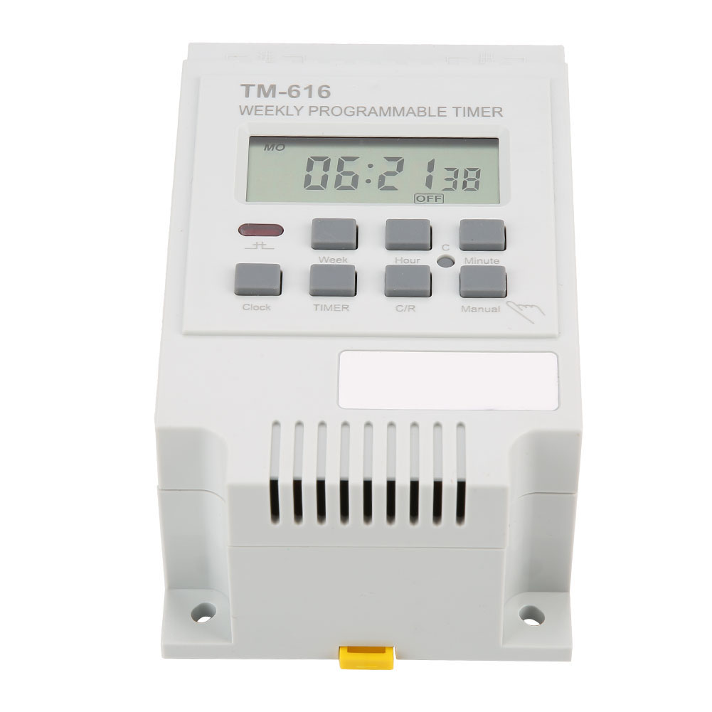 30A 7 Days Programmable Digital Timer Time Control Switch 35mm Din Rail Mount