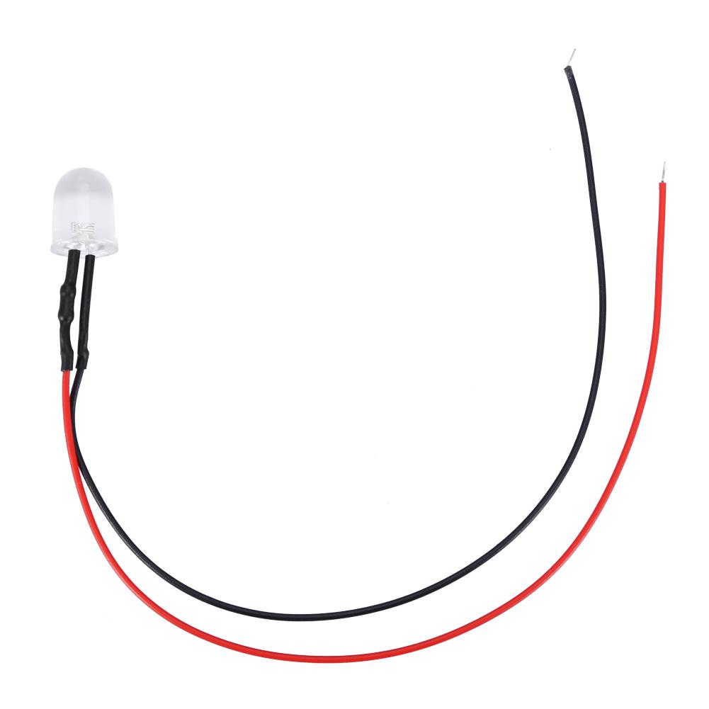 10pc//set 12v 10mm LED Light-emitting Diode Wired Multicolor LED Light Cable 20cm
