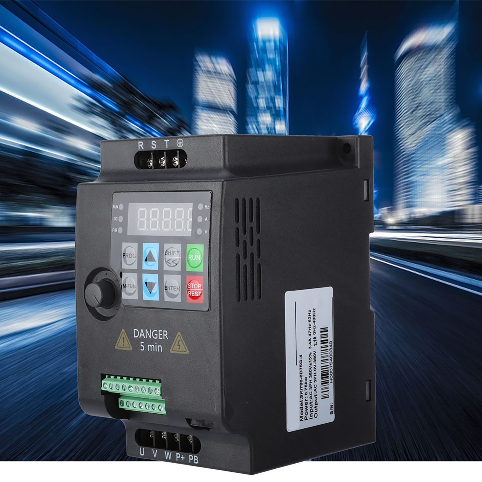 0.75KW-2.2KW Single Phase//3-Phase Variable Frequency Drive Inverter Motor VFD AC