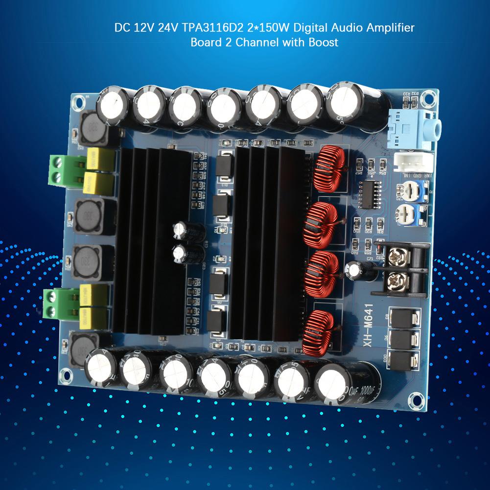 DC12V 2 x 150W 2-Kanal Audio Verstärkerplatine Verstärker Platine Amplifier