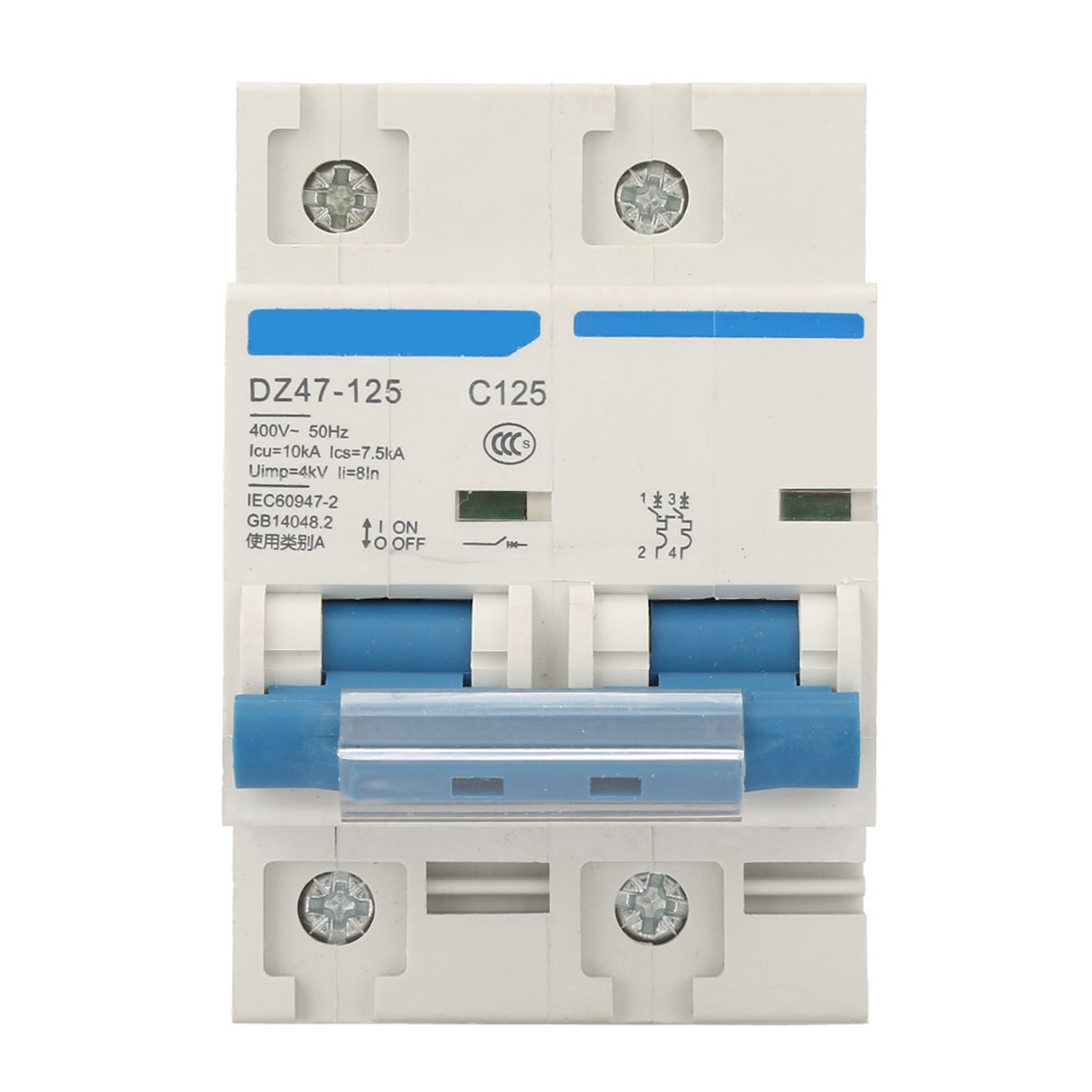 HighQ 400V 80//100//125A Leakage Protection Switch  DZ47-125 2P​ Current Miniature