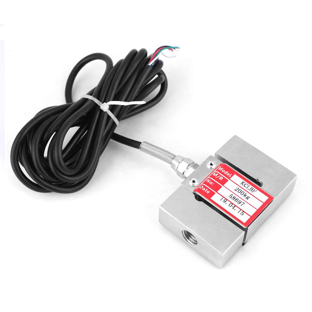 200KG S Typ Wägezelle Gewichtssensor Wiegesensor Kraftaufnehmer Load Cell 100